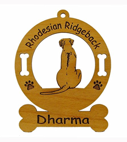 Rhodesian Ridgeback Kennel - 3821 Rhodesian Ridgeback Sitting Ornament Personalized with Your Dog's Name