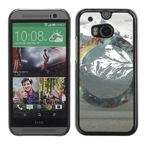 EJOY---Cubierta de la caja de protección la piel dura para el / HTC One M8 / --Geometría de la montaña Nevado
