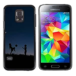 "For Samsung Galaxy S5 Mini ( NOT for regular S5 ) , S-type deti siluety myach noch igra"" - Arte & diseño plástico duro Fundas Cover Cubre Hard Case Cover"