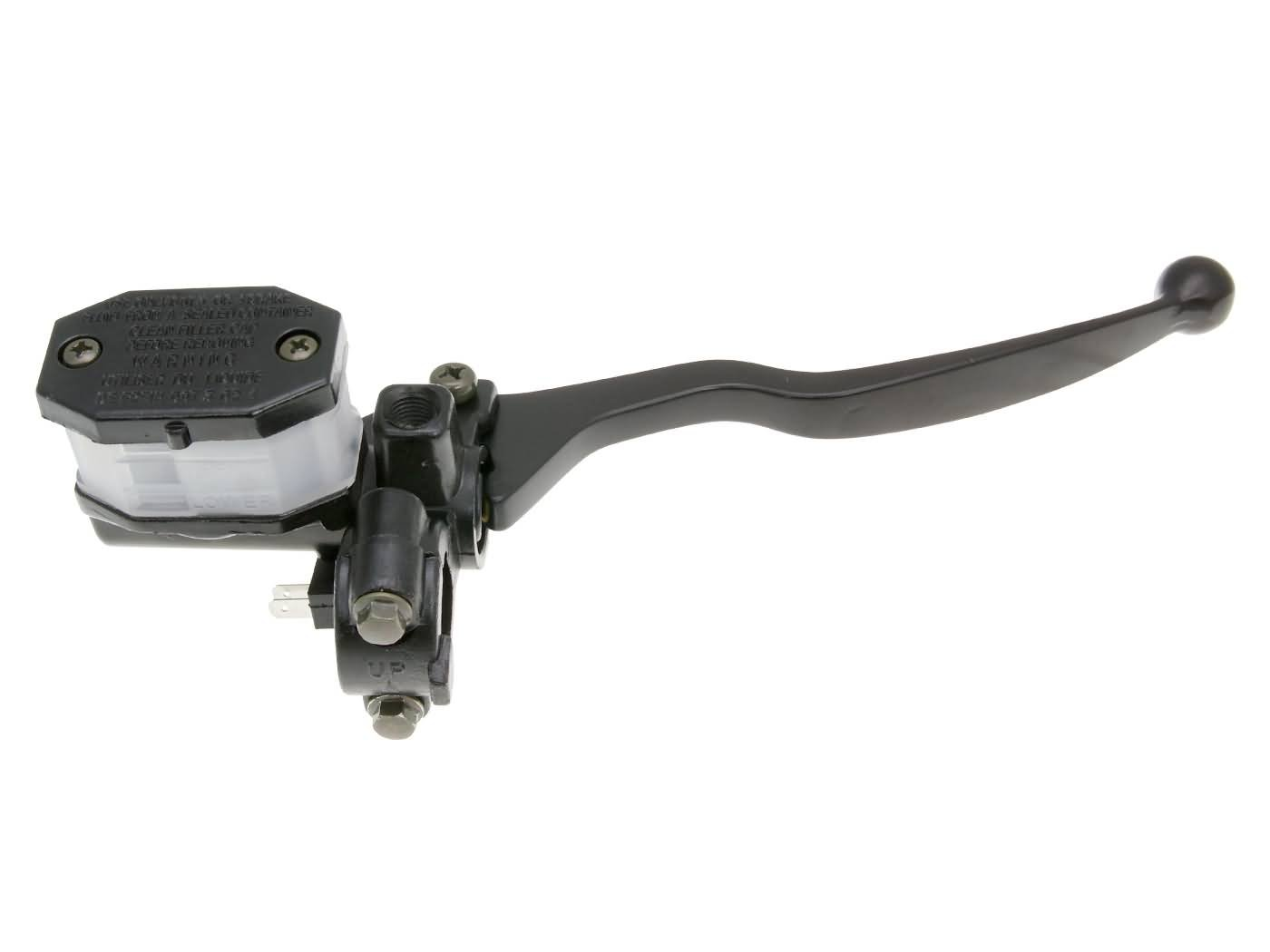 Universale Bremspumpe/Bremszylinder/Hauptbremszylinder rechts mit Bremshebel fü r Roller, Moped, Mokick, Motorrad, Quad & ATV - Spiegelhalterung M8 101 Octane