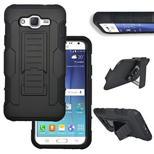 Shockproof Hybrid TPU Case for Samsung Galaxy Grand Prime (Black/Silver) - 7