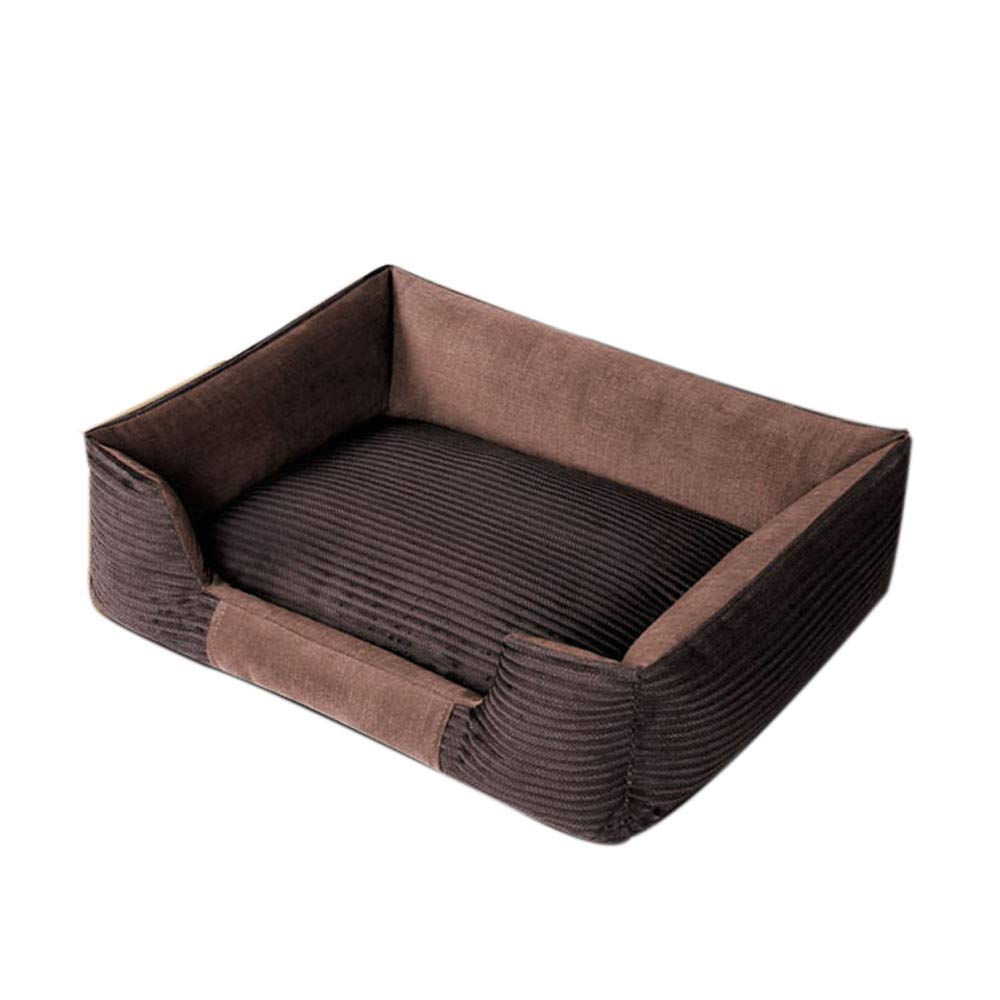 Dark Brown LiRongPing Four seasons kennel, removable and washable, warm medium, small dogs, dog supplies, suitable for pets up to 3kg (color   Dark brown)