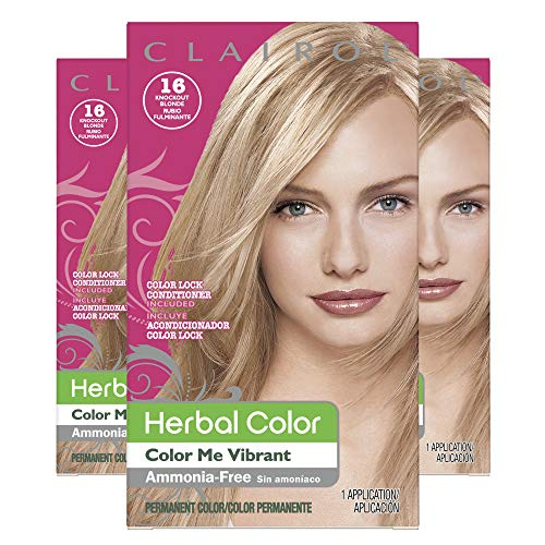 - Clairol Herbal Essences Color Me Vibrant Shade 16 Light Blonde, 3 Count
