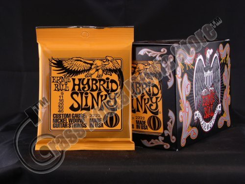 Bulk 12 Sets, Ernie Ball, Electric Guitar Strings, Hybrid Slinky Gauge (9-46)
