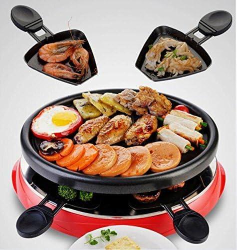 MJY Four électrique Maison sans Fumée Barbecue Coréen Cuisinière électrique Barbecue Poêle Cuisinière électrique Barbecue,Rouge,A