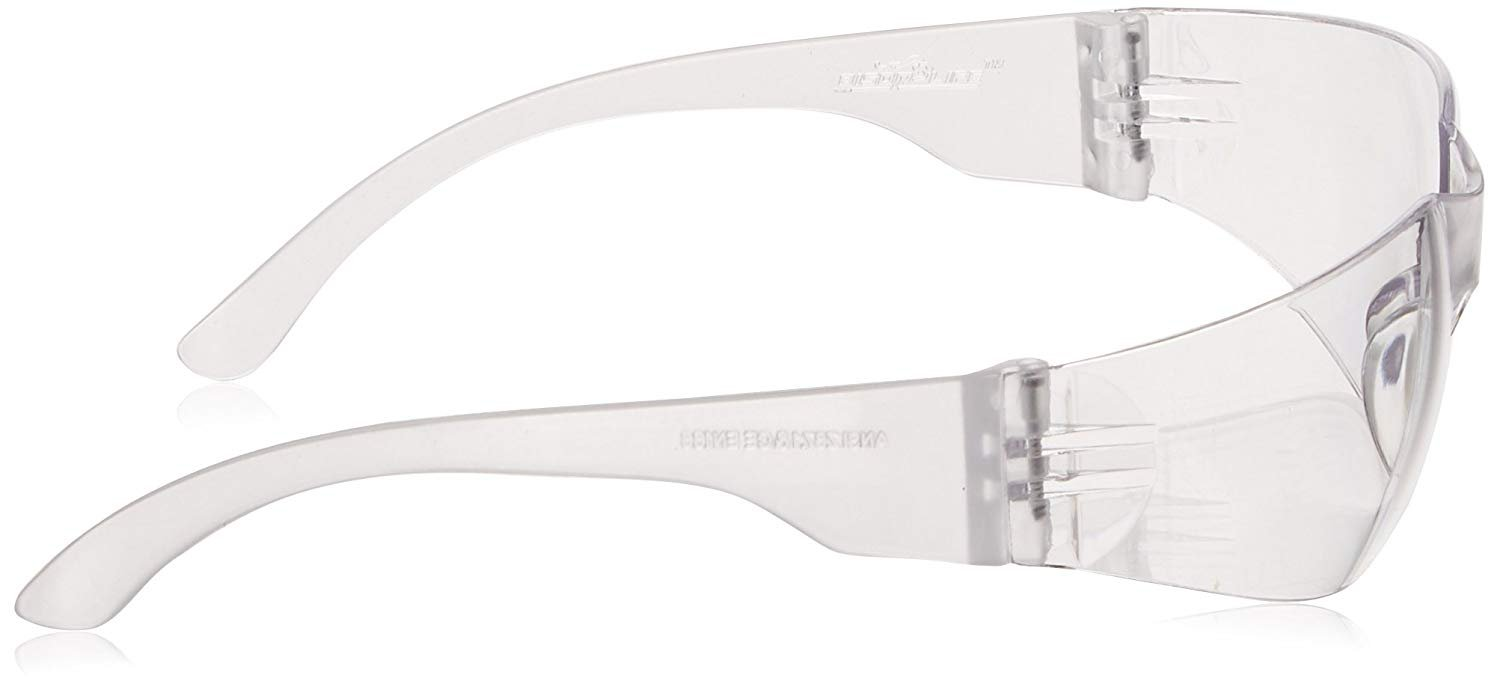 BISON LIFE Safety Glasses, One Size, Clear Polycarbonate Lens, 12 per Box (1 box) by BISON LIFE (Image #7)