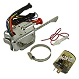 PerfecTech Chrome 12V Universal Street Hot Rod Turn Signal Switch For Ford GM With Flasher
