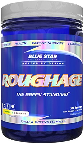 Blue Star Nutraceuticals ROUGHAGE 30 Servings 13 oz (369 g), Fruit & Greens Formula