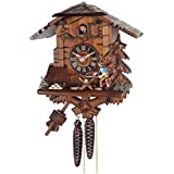 River City Clocks 34-10 One Day Cuckoo Clock Cottage - Man Sawing Wood
