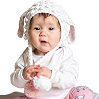 Huggalugs Baby and Toddler Girls Lamb Beanie Hat (0 to 6 months)