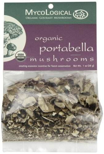 - Mycological Dried Organic Portabella Mushrooms, 1 Ounce Package