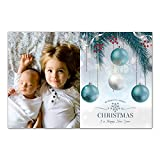 30 Christmas Family Photo Card Holiday Greeting Personalized Ornaments Photo Paper