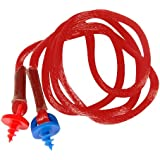 Radians CEPNC-R Custom Molded Earplugs Red Neckcord With Red and Blue Screws