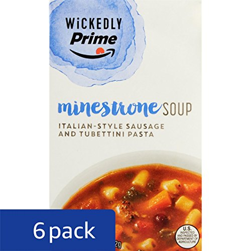 Large Product Image of Wickedly Prime Minestrone Soup with Italian Sausage, 17 Ounce (Pack of 6)