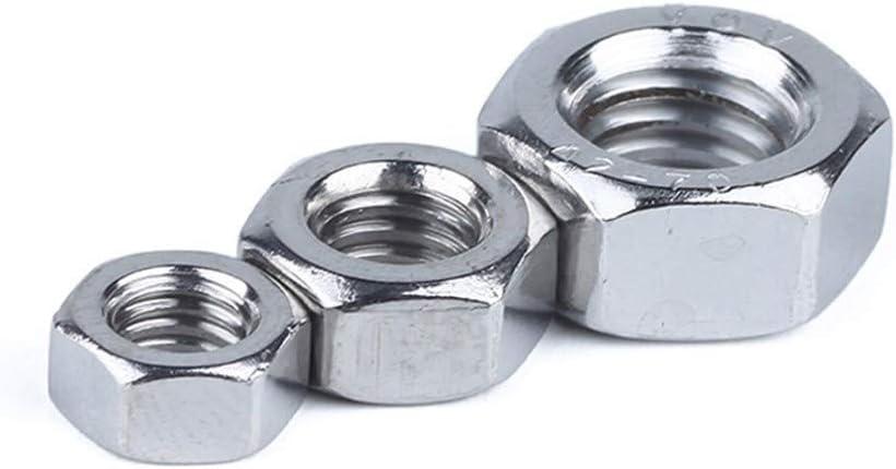 唐铭鲆544162 1//50//100pcs A2 304 Stainless Steel Hex Hexagon Nut for M1 M1.2 M1.4 M1.6 M2 M2.5 M3 M4 M5 M6 M8 M10 M12 M16 M20 M24 Screw Bolt Nuts Bolt Size : M16 2pcs