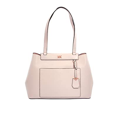7aa1973d5eb5 Amazon.com: Michael Kors Meredith Leather Tote - Soft Pink: Shoes