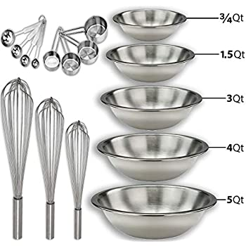 """Amazon.com: OdontoMed2011® Stainless Steel Mixing Bowl 4.5"""" Wide 2"""" Deep ODM: Health & Personal Care"""