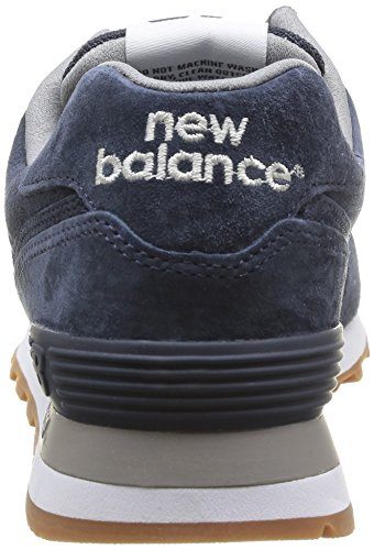 New Balance Uomini Buty 574 Dita Tagliate Blu (marina Piena Di Cinghiale)