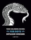snake coloring book - Teen Coloring Books for Boys: Detailed Designs: Complex Animal Drawings for Teenagers & Older Boys, Zendoodle Alligators, Snakes, Lizards, Spiders, Scorpions, Bats & More