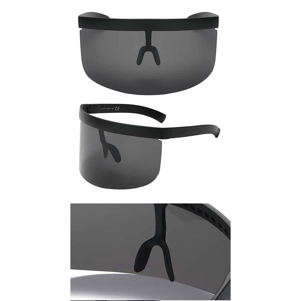 SUDOOK Funky occhiali da sole per uomo/donna extra oversize visiera maschera elegante Siamesi occhiali, glasses-5