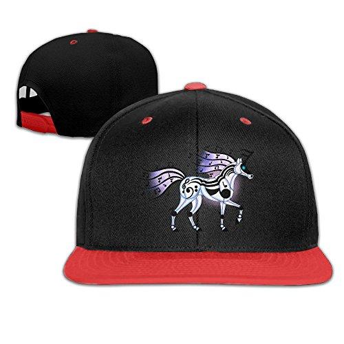 Hip Hop Baseball Caps Cool Musical Unicorn Trucker Flat Hats For Boy Girls by Oopp Jfhg