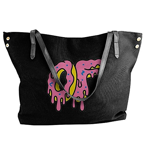 Lady Odd Futrue Metling Donuts Canvas Tote Bag Shoulder Bag Handbags