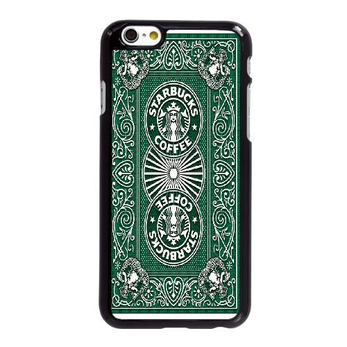 W3N81 Starbucks X1W6VM coque iPhone 6 4.7 pouces Cas de couverture de téléphone portable coque noire DH8BKO2KR