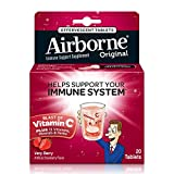 Airborne Very Berry Effervescent Tablets, 20 count – 1000mg of Vitamin C – Immune Support Supplement