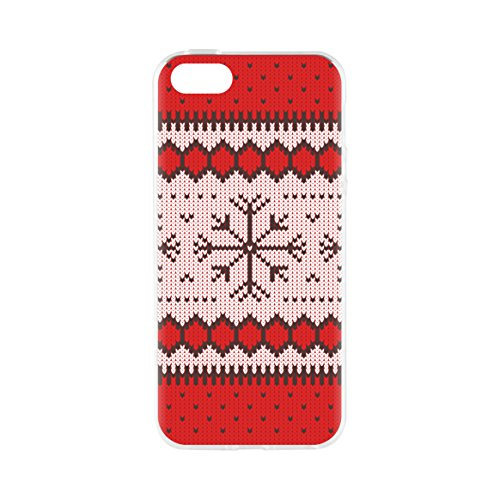 "flavr 27414 Noël Etui ""Ugly Xmas Sweater pour Apple iPhone 5/5S/SE rouge"