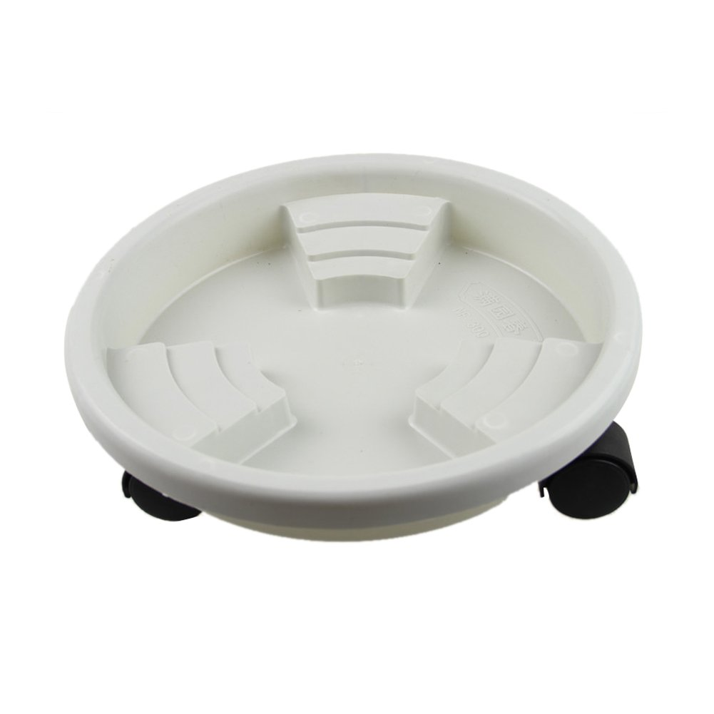 Ruier-hui Plant Caddy Plant Pot Saucer Universal Wheel Resin Flower Pot Tray Mobile non-slip Flower Pots Base Moving Tray