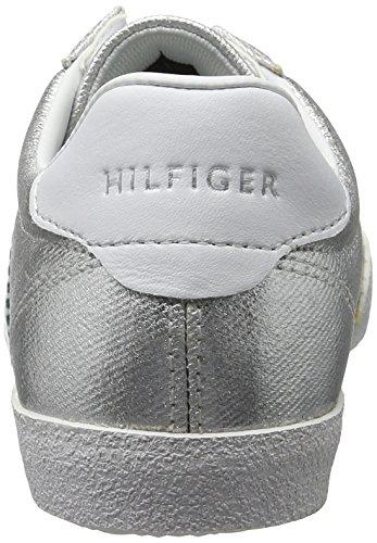 1d1 Basses Argento Tommy Argent Sneaker Hilfiger L1285izzie Femme HnwqBO1I