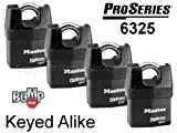 Master Padlock - High Security Locks #6325NKA-4 BUMP