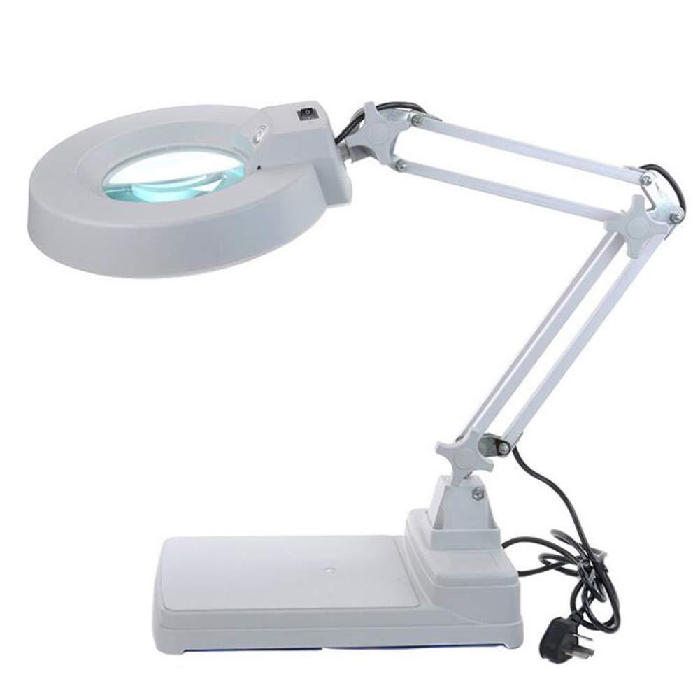 A Koimg Lupe 10-Fach Desktop-lupenleuchte Mit Standfuß Vergrößerungsglas Mit Beleuchtung Led-Lampe Elektronische Hochauflösende Für Reparaturarbeiten Reparatur Tisch Schweißen
