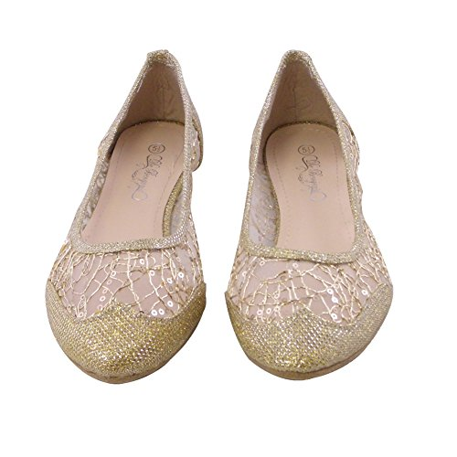 Womens SQ 32 Toe GOLD 32 Flats Ballet Ballet SQ Flats WOMEN Pointed Womens xaqYagw4