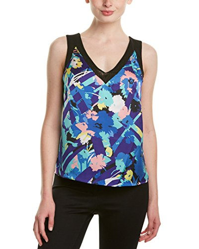 Price comparison product image Anne Klein Women's Seagate Floral Mesh Strap Tank,  Bluebell Combo,  12