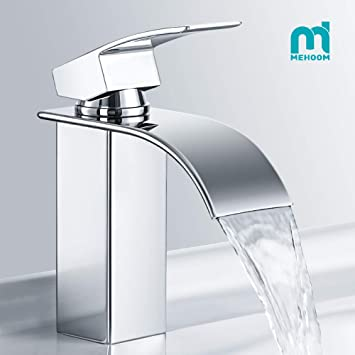 Favorit M MEHOOM Wasserfall Wasserhahn Bad, Wasserhahn Waschbecken für MH91
