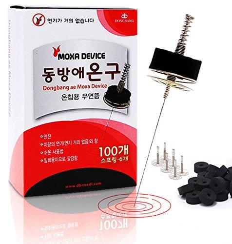 Smokeless Mini Disc Moxa for Warm Moxa Device Therapy (Moxa Disc + Spring Cap Device) by Mini Disc Moxa & Moxa Device
