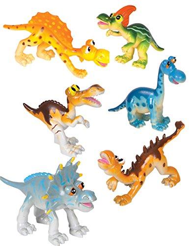 Adventure Planet Cartoon Dinosaur Set, 6-Piece (Cartoon Figure)