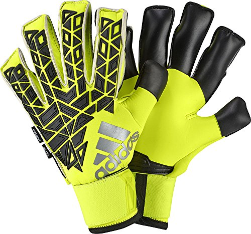 adidas Torwarthandschuhe Ace Fingersave Pro Handschuhe, Solar Yellow/Black, 10