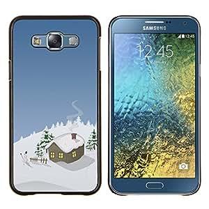 Cubierta protectora del caso de Shell Plástico || Samsung Galaxy E7 E700 || Invierno Casa de la Navidad @XPTECH