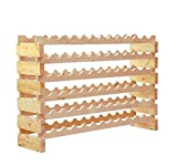 Storage Wine Rack Classic Wooden 72 Bottle Holder Sturdy With Ebook