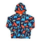 Popshion Kids Baby Boy Casual Windbreaker Outerwear Dinosaur Printed Zipper Hooded Jackets Coat