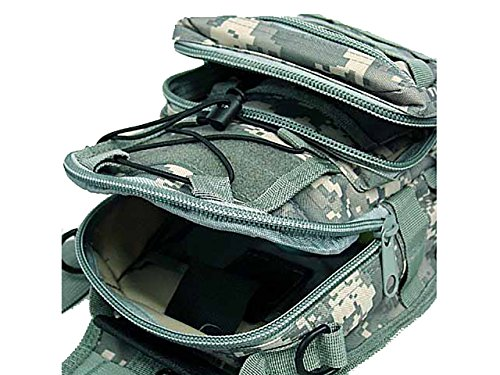 Tactical Molle Utility 3 Ways Schulter Sling Tasche Rucksack Brust Tasche Small ACU