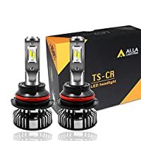 Alla Lighting 10000lm LED 9007 Headlight Bulbs Extremely Super Bright TS-CR HB5 9007 LED Headlight Bulbs Conversion Kits 9007 Bulb, 6000K Xenon White (Set of 2)