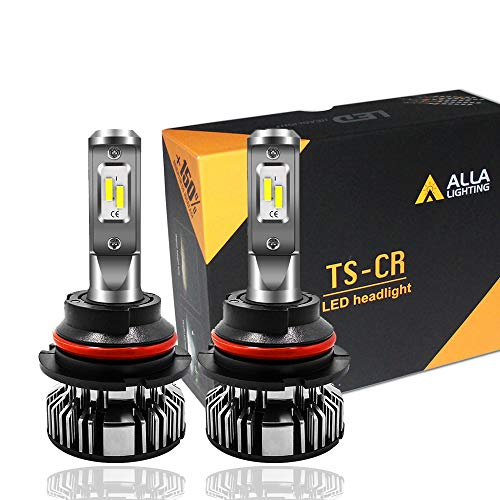 Alla Lighting 10000lm LED 9004 Headlight Bulbs Extremely Super Bright TS-CR HB1 9004 LED Headlight Bulbs Conversion Kits Bulb, 6000K Xenon White ()