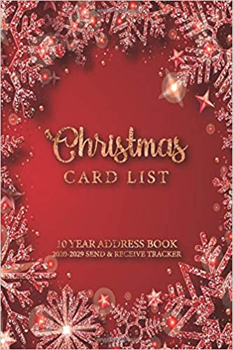 Christmas Card Mailing Dates 2020 2020 2029 Christmas Card List Address Book: A Ten Year Address