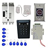 Baosity Full sets 1000 User Fingerprints 10 Pcs Key Fobs Doorbell EM RFID ID USB SD Card Reader Door Access Controller