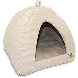"Best Pet Supplies - Cama para tienda de campaña, beige (Corduroy Beige), Medium (16"" x 16"")"