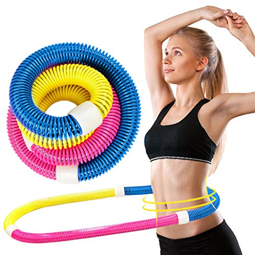 CIshow Weighted Soft Spring Fat Burning Fitness Hula Hoop for Adults - Easy to Spin, Premium Quality and Professional Fitness Hula Hoop