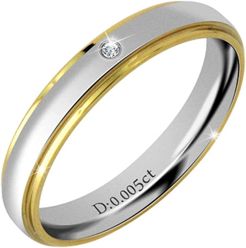 7 Smart.A Couple Ring Ring Ring Simple Couple Diamond Ring